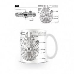 Mug Star Wars Millennium Falcon Sketch