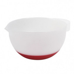GIMEL Bol-mélangeur - Ø 19,5 cm - Blanc et rouge