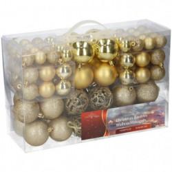 Boules de Noël dorées - Pack de 100