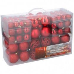 Boules de Noël rouges - Pack de 100