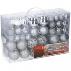 Boules de Noël argentées - Pack de 100
