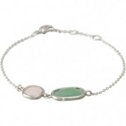 "Bracelet ""Zoé"" Aventurine verte et Quartz rose"