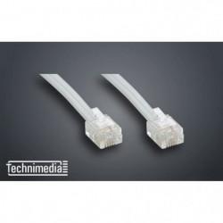 TECHNIMEDIA 9139TM03 Câble RJ11 Haut-Débit ADSL - 5 m