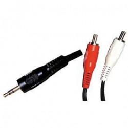 LINEAIRE A200G Câble Jack 3,5mm stéréo mâle / 2 x RCA mâle
