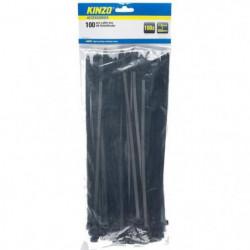 KINZO Attache câble - 100 pieces - 7.5x300 mm - Noir