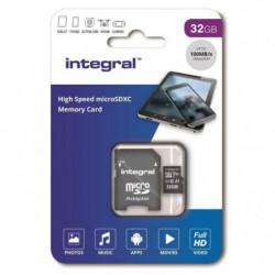 INTEGRAL MEMORY Micro SDXC 32GB Haute Vitesse 100MB/s