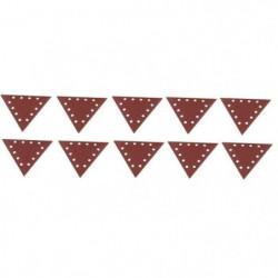 SCHEPPACH Lot de 10 triangles de ponçage grain 150