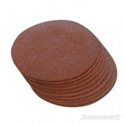 Lot de 10 disques abrasifs auto-agrippants 125 mm