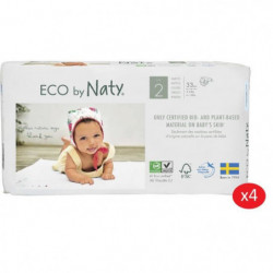 NATY - Lot de 4 paquets de couches Taille 2 Mini 3-6 kg