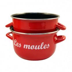 BAUMALU Marmite à moules - 18 cm - Rouge marquage