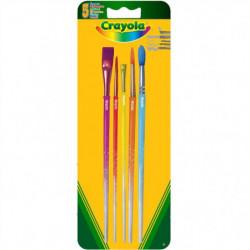 Crayola - Blister de 5 pinceaux  - Peinture et accessoires