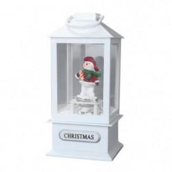 Lanterne de Noël avec bonhomme de neige - Animation flocons