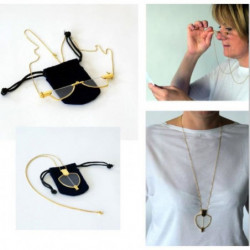 Collier lunettes loupe VITAEASY - Chaine forme sautoir
