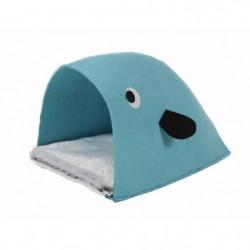 BUBIMEX Niche - bleu - 35 x 46 x 28 cm - Pour chat