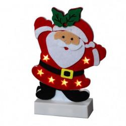Personnage de Noël : Pere Noël LED en feutrine