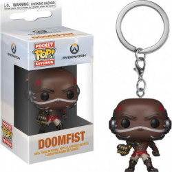 Porte-clés Funko Pocket Pop! Games: Overwatch: Doomfist