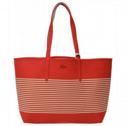 LACOSTE Sac cabas reversible NF2793AS Rouge Femme