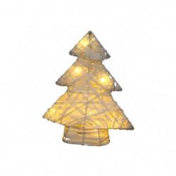 Sapin de Noël artificiel en Métal & Raphia 30x25cm