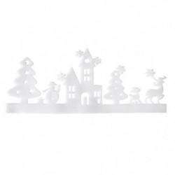 Sticker de Noël paysage Blanc 25x64 cm