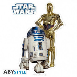 Stickers Star Wars - 16x11cm  / 2 planches - R2-D2  / C3PO