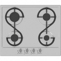 HUDSON HTG 4 I - Table de cuisson gaz - 4 foyers - L 60 cm