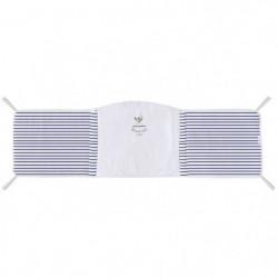 ABSORBA Tour de lit déhoussable Bord de mer - 100% coton