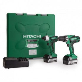 HITACHI Pack perceuse-visseuse a percussion KC18DG