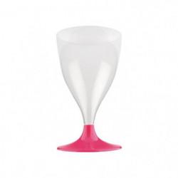 Lot de 6 verres à eau ou à vin jetables 20 cl rose hortensia