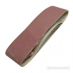 SILVERLINE Lot de 5 bandes abrasives 100 x 915 mm
