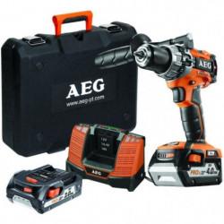 AEG POWERTOOLS Perceuse percu 18V Brushless, 1 x 4Ah & 1 x 2Ah