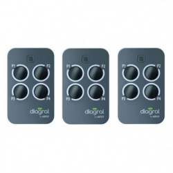 DIAGRAL BY ADYX Lot de 3 télécommandes 4 touches