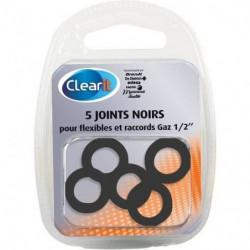 """Paquet de 5 joints noirs pour flexibles et raccords gaz 1/2"""""""