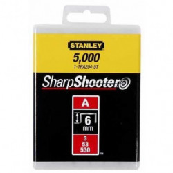 STANLEY Agrafes 6mm type A 1000 pieces