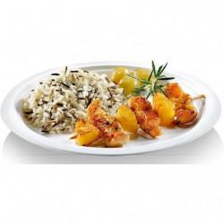 NATURESSE - 5016-12 - 23 assiettes rondes - Canne à sucre