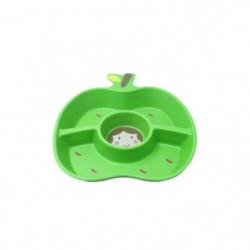 PLASTOREX Assiette compartiments - Pomme