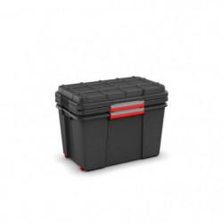 ABM Lot de 2 coffres malles Atlas - Taille XL - Noir