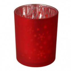 Bougeoir de Noël étoile - Ø 6 x H 7,5 cm - Rouge