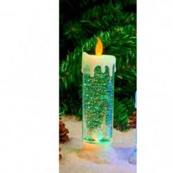 Bougie Eau lumineuse et paillettes tourbillonnantes LED