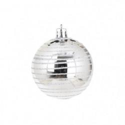 AUTOUR DE MINUIT Set de 6 boules décorées finition brillante