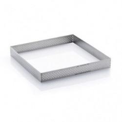 DE BUYER Cercle carré perforé inox - Inox - Diametre : 20 cm