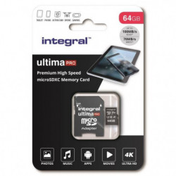 INTEGRAL MEMORY Premium High Speed V30 UHS-I U3 Micro SDXC