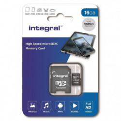 INTEGRAL MEMORY Micro SDHC 16GB Haute Vitesse 100MB/s