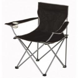 Chaise de camping pliable - 50 x 50 x 80 cm - Noir