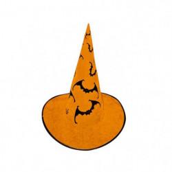 CESAR Chapeau Sorciere - Orange - Avec chauve souris