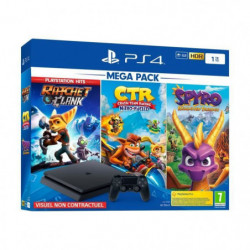 PS4 Slim 1To Black + Crash Team Racing + Spyro Reignited Trilogy