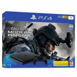PS4 Slim 1To Noire + Call of Duty Modern Warfare