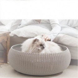 CURVER Panier de couchage rond aspect tricot Cozy Pet Bed