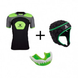 GILBERT Pack protection rugby enfant 6 - 8 ans - Casque rugby