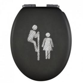 GELCO DESIGN Abattant WC - Charnieres métal chromé