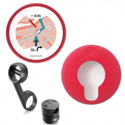 TomTom VIO GPS pour Scooter + Housse silicone rouge